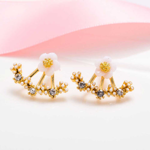 Small Daisy Flowers  Stud Earrings - Cool Stuff