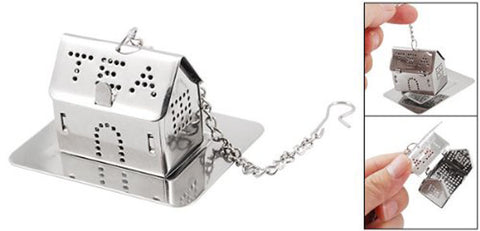 Silver Tone Mini Tray House Shaped Tea Infuser - Cool Stuff