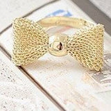 Gold Plated Color Exquisite Noble Cute Bow Ring - Cool Stuff