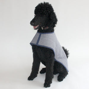 Handmade Organic Basketweave and Sherpa Fleece Dog Coat