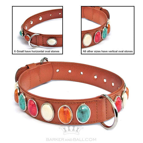 Cabochan Designer Dog Collar
