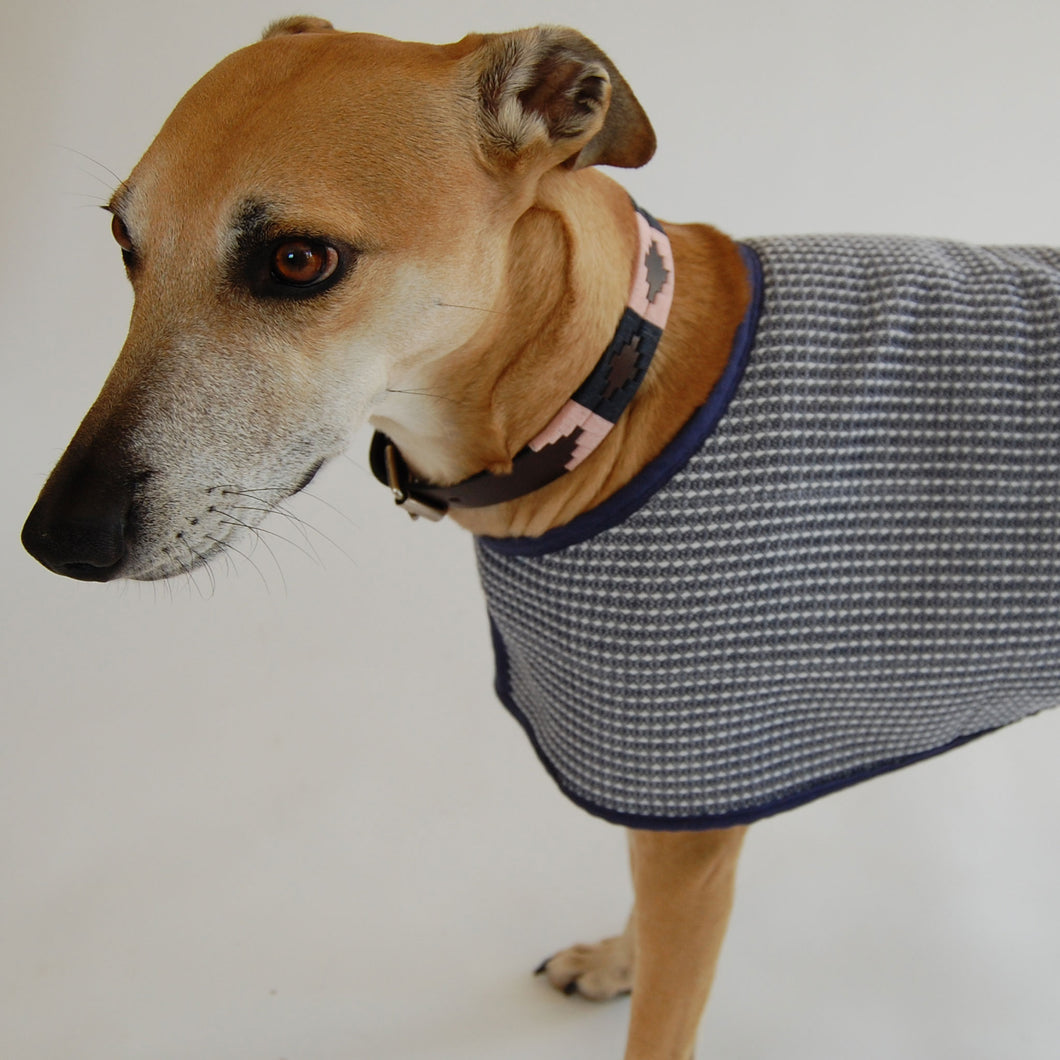 Made to Measure Organic Basketweave and Sherpa Fleece Dog Coat