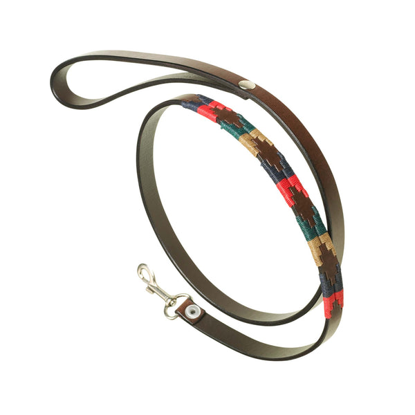 Argentinian Leather Polo Belt Dog Lead - Navidad