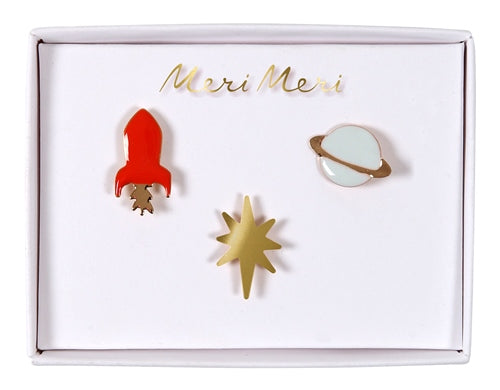 Space Enamel Pins Meri Meri All Dressed Up