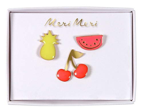 Fruit Enamel Pins Meri Meri All Dressed Up