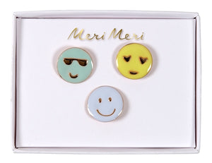 Emoji Enamel Pins Meri Meri All Dressed Up