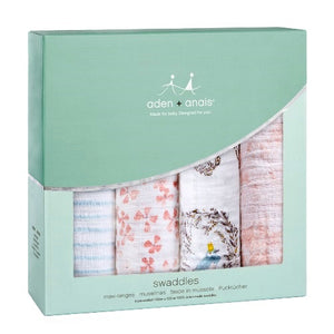 Aden + Anais Classic Swaddles 4 Pack Bird Song