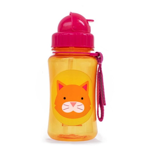 Skip Hop Straw Bottle Cat