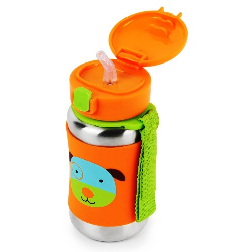 Skip Hop Insulated Straw Bottle Dog