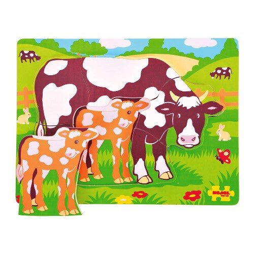 Chunky Puzzle Cow and Calf Bigjigs Puzzles and Games