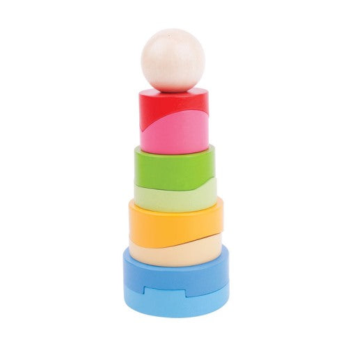 Circular Stacking Tower Bigjigs Wooden Toys Educational