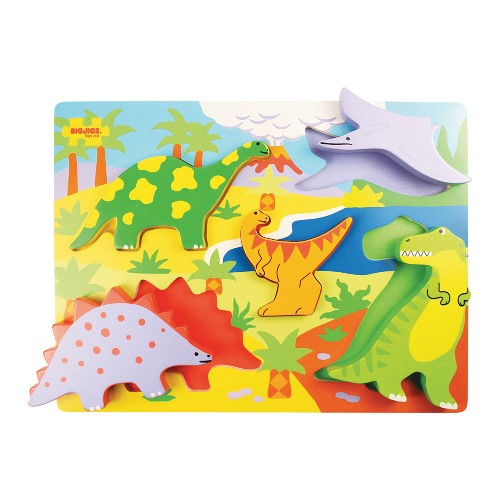 Bigjigs Chunky Lift Out Puzzle Dinosaur