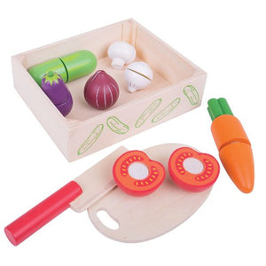 Cutting Vegetables Crate Bigjigs Pretend Play