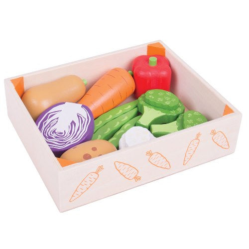 Food Crate Vegetables Bigjigs Pretend Play