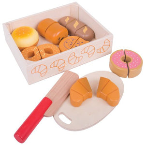 Cutting Bread and Pastries Crate Bigjigs Pretend Play