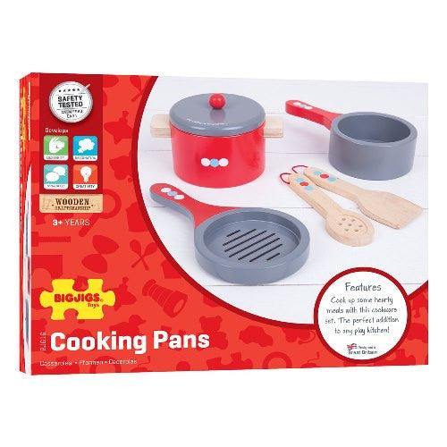 Cooking Pans Bigjigss Pretend Play