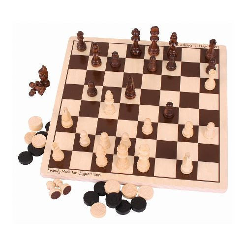 Draughts & Chess Bigjigs Puzzles and Games