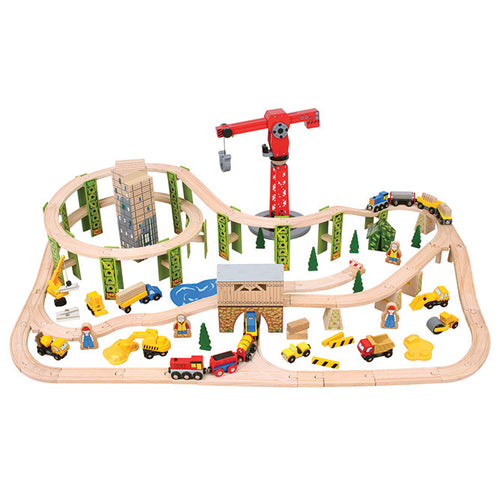 Construction Train Set Bigjigs Railway
