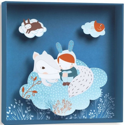 Wall Art White Fox Djeco Kids Room and Nursery