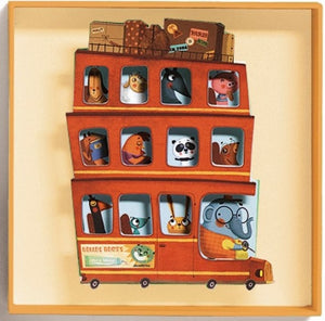 Wall Art Big Bus Djeco Kids Room and Nursery