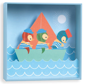 Wall Art Penguin Sailors Djeco Kids Room and Nursery