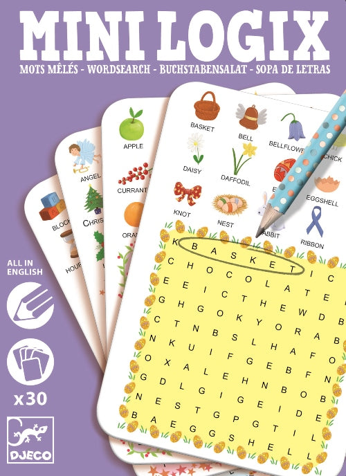 Mini Logix Wordsearch Djeco Puzzles and Games