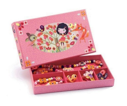 Jewellery Set Wood Flower Djeco Pretend Play