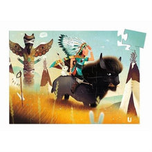 Silhouette Puzzle Tatanka Young Indian Djeco Puzzles and Games