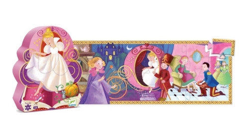 Silhouette Puzzle Cinderella Djeco Puzzles and Games
