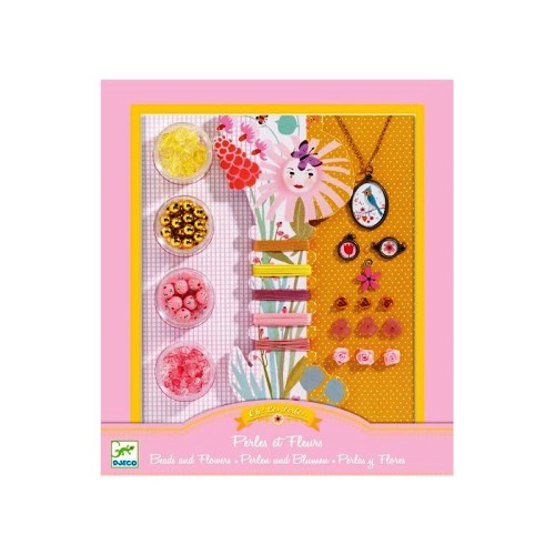 Oh! Les Perles Beads and Flowers Djeco Pretend Play