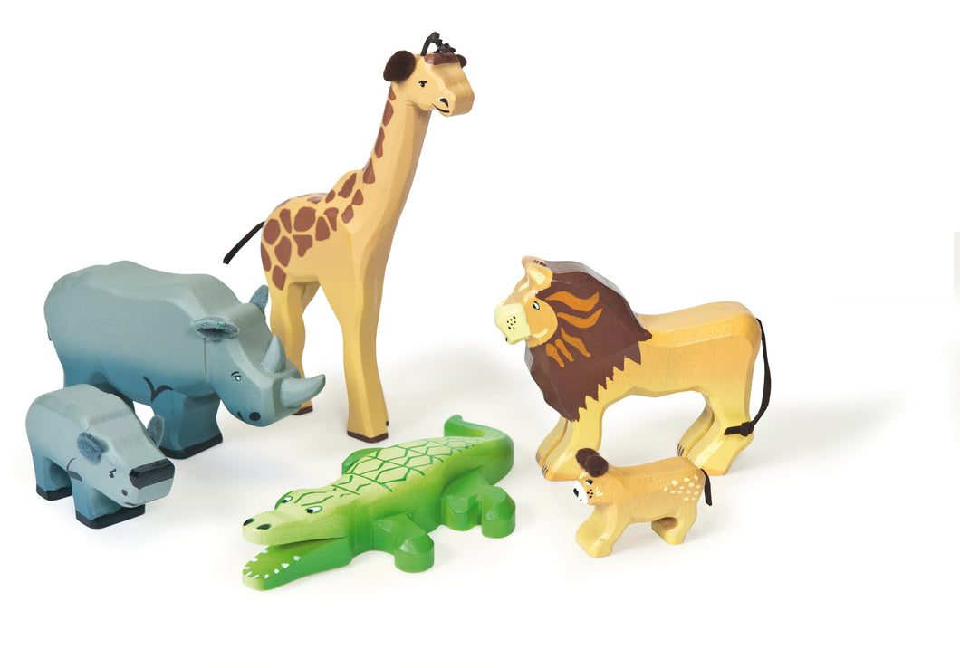 Savannah Wild Animals Le Toy Van Wooden Toys