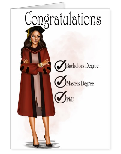 Dana (PHd) Graduation Card