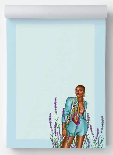 Lavendar Blue notepad