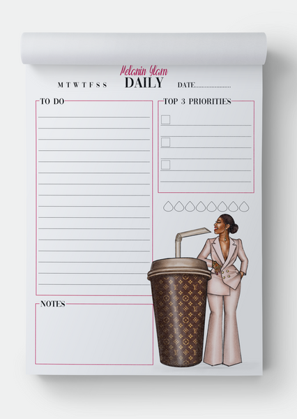 Cora Coffee Daily planner notepad