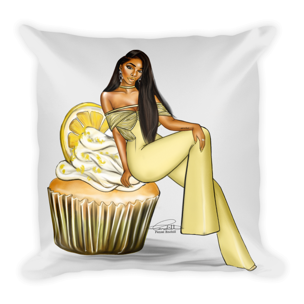 Ms. Lemon Square Pillow