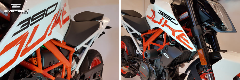Evotech KTM 390 Duke 2017 Motorcycle Accessories Tail Tidy Crash Protection Radiator Guard