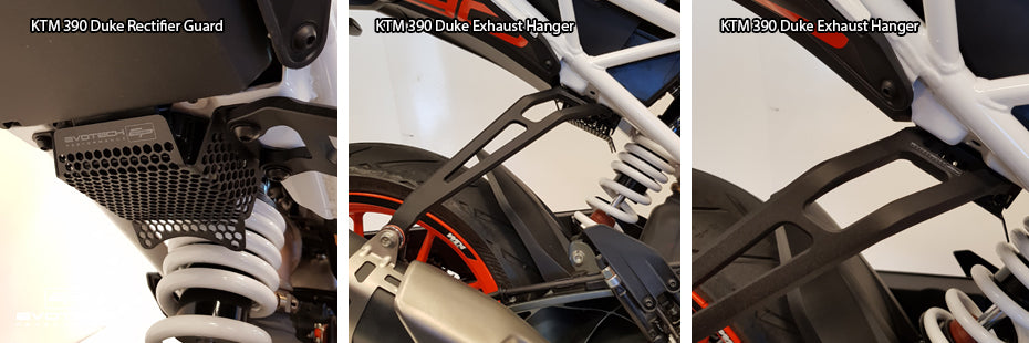 Evotech KTM 390 Duke 2017 Motorcycle Accessories Rectifier Guard Exhaust Hanger