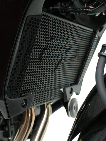 Close up of EP Radiator Guard on Honda CB500X