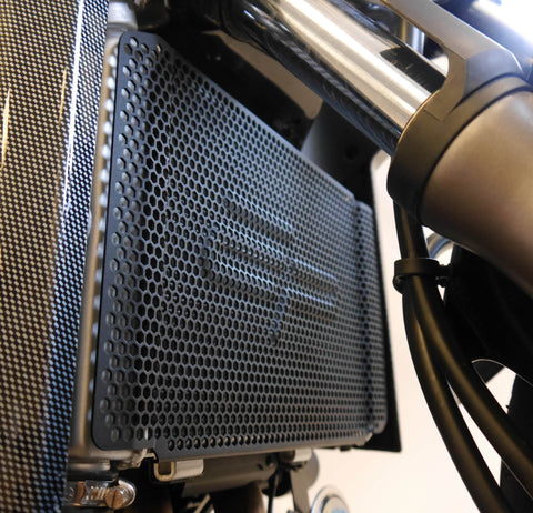 EP Radiator Guard installed on the WK 650i motorcycle