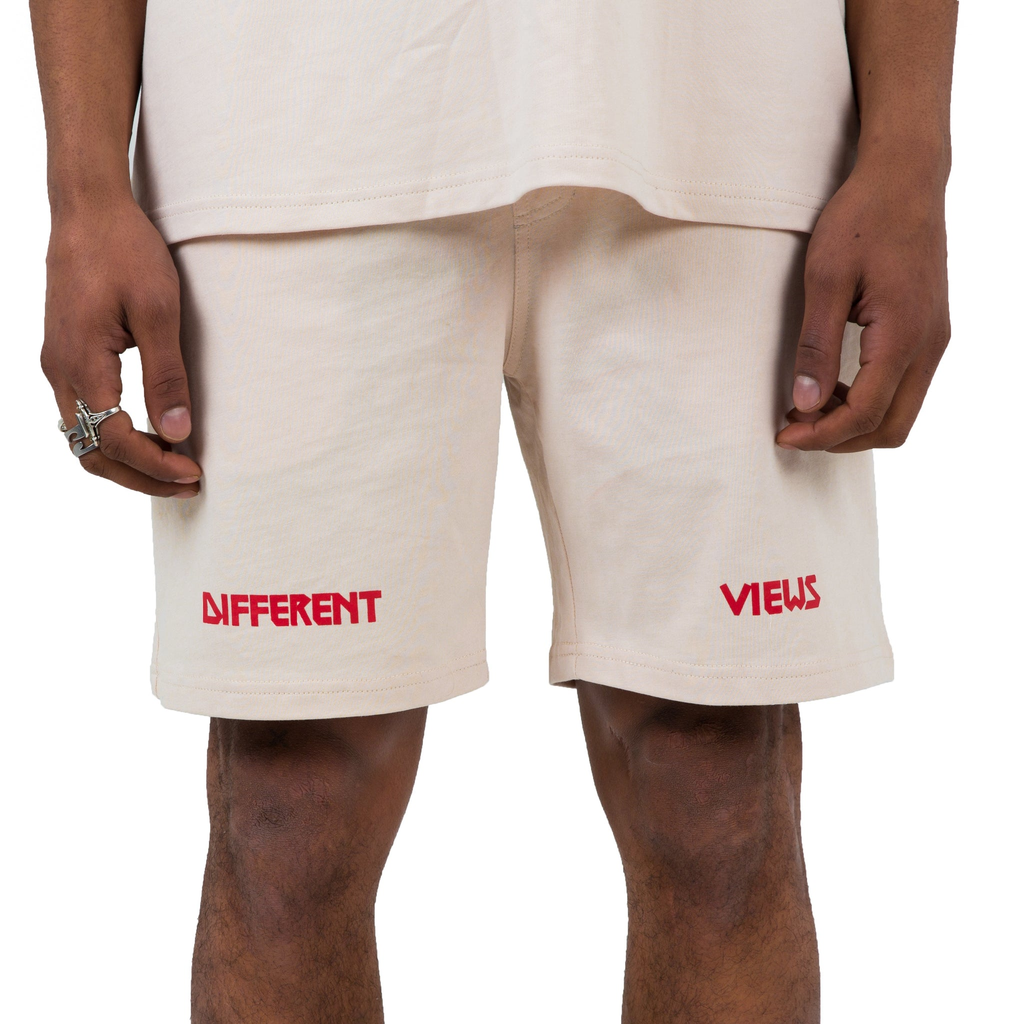 DV Oversized T-shirt & Shorts - Beige