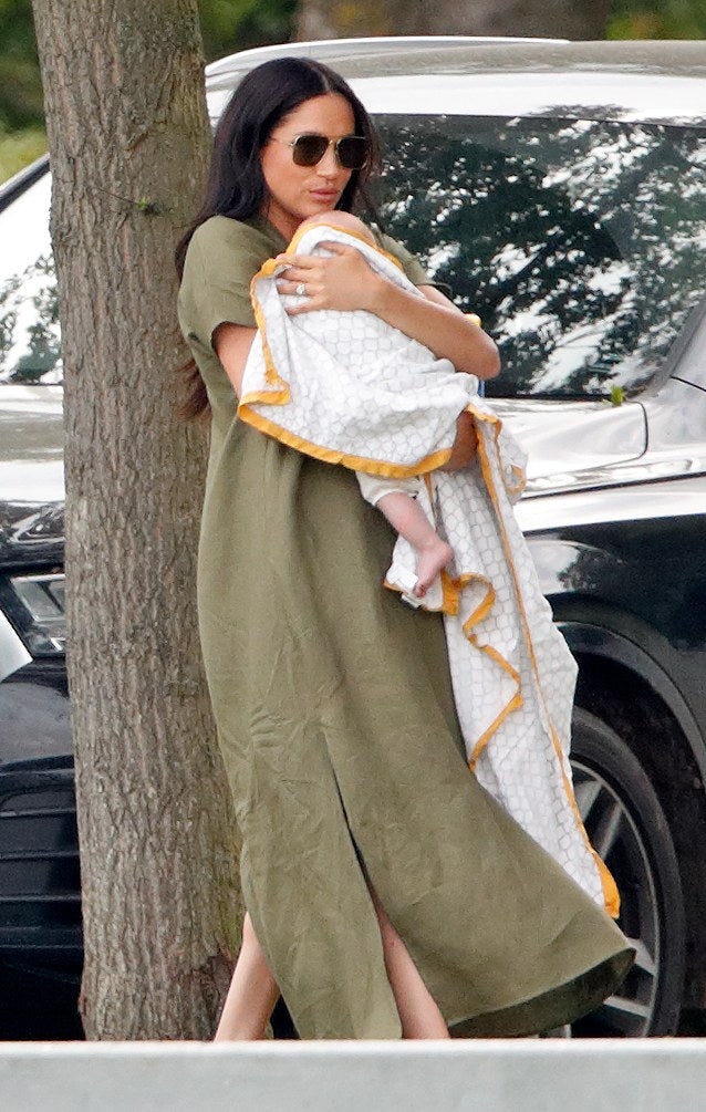 Malabar Baby goes royal – new mom Duchess of Sussex is spotted carrying baby Archie in an Erawan Dohar blanket