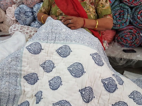 Malabar Baby: Sewing a block-printed quilt