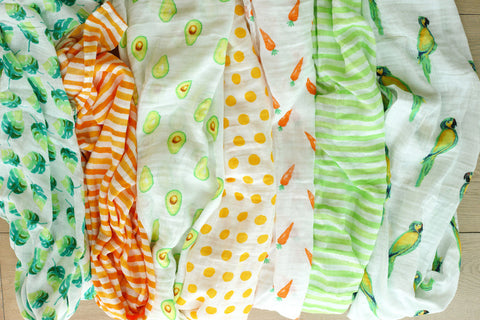Malabar Baby: Our collection of brightly-coloured and beautifully-patterned swaddles