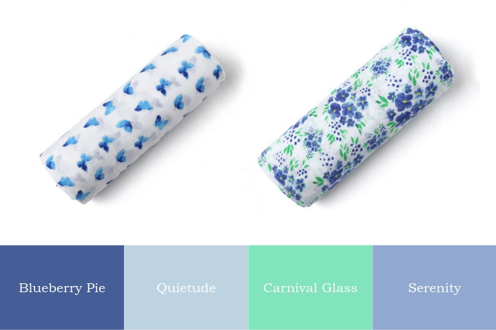Hues of Blue: Malabar Baby's Spring Collection of Swaddles