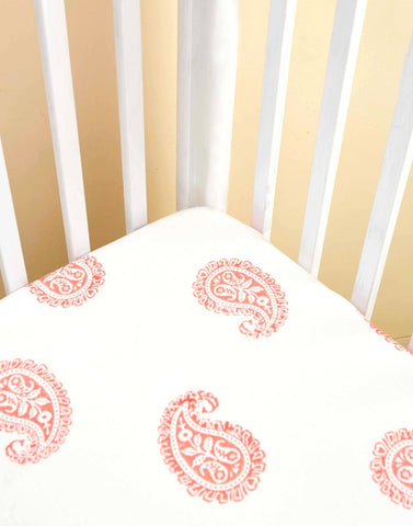 Pink City Fitted Crib Sheet