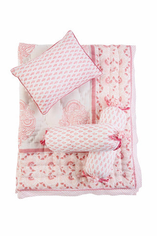 PINK CITY BEDDING SET (4Pc)