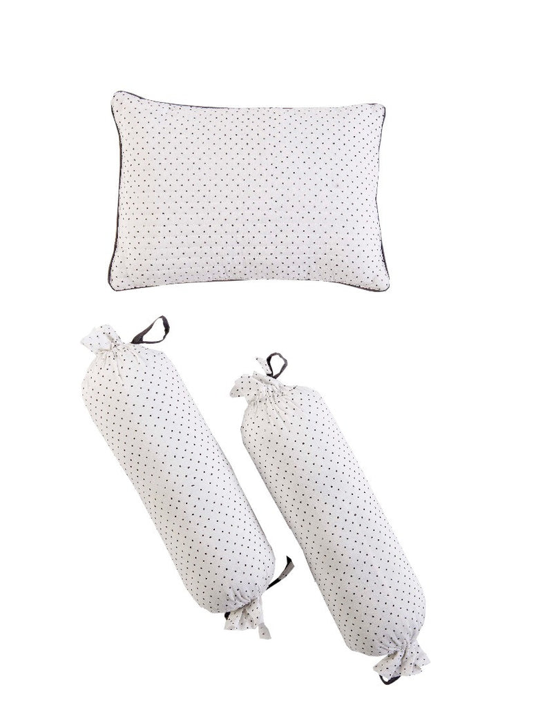Malabar Baby | Block Printed Pillow & Bolster Set | Greenwich