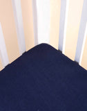 Malabar Baby | Ultra-Soft, Secure Fitted Crib Sheet | Southside Blue