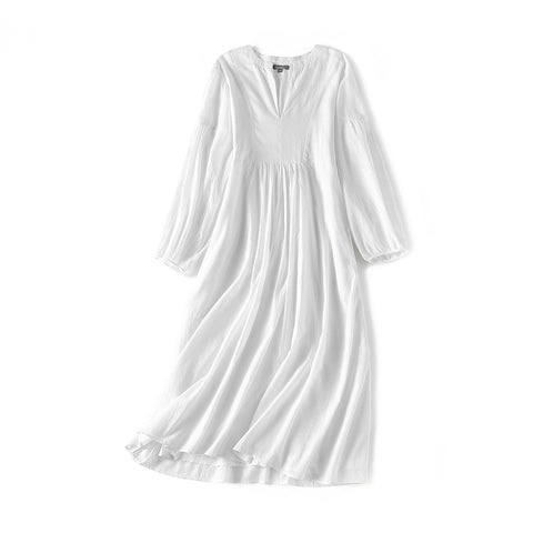 Women's Cotton Kaftan Dress - White