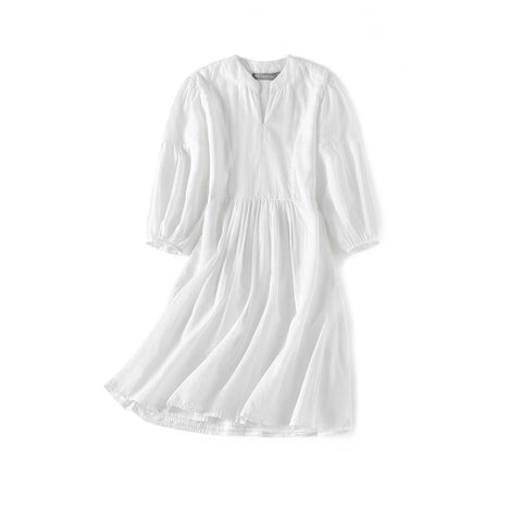 Girl's Cotton Kaftan Dress - White